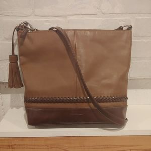 TIGNANELLO Light/Dark Chocolate Soft Leather Tote